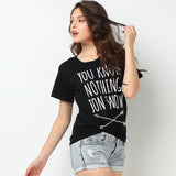 You know nothing Jon Snow retro tshirt