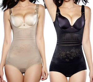 Slimming belly control compression body shapewear
