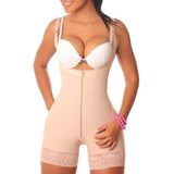 Slimming tummy control lifting midi bodysuit shapewear