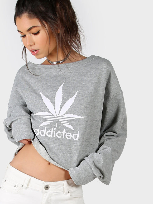 Ladies Addicted oversize sweatshirt