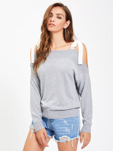 Ladies Bow Tie shoulder sweater