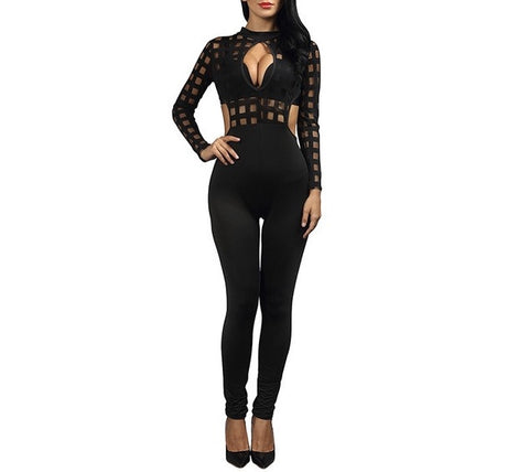 """ambience"" caged style jumpsuit - Iconic Trendz Boutique"