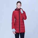 Women warm bubble high neck hoodie winter jacket