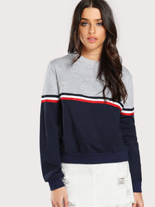 Casual boyfriend block fashion sweatshirt