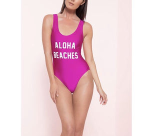 Aloha beaches monokini one piece bikini swimsuit - Iconic Trendz Boutique