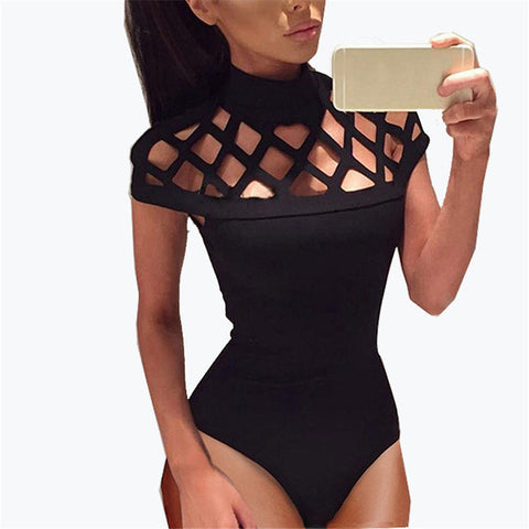 """Sasha"" cutout caged bodysuit - Iconic Trendz Boutique"