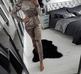 Velvet off the shoulder fashion jumpsuit - Iconic Trendz Boutique