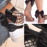 Fishnet bow socks - Iconic Trendz Boutique