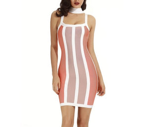 """lucky"" choker bandage bodycon dress - Iconic Trendz Boutique"