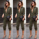 """Attention"" one piece fashion romper jumpsuit - Iconic Trendz Boutique"