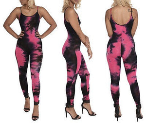 """Behold"" tie dye bodycon fashion jumpsuit - Iconic Trendz Boutique"