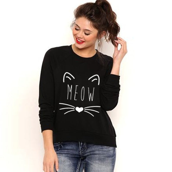 Meow pullover fashion sweater - Iconic Trendz Boutique