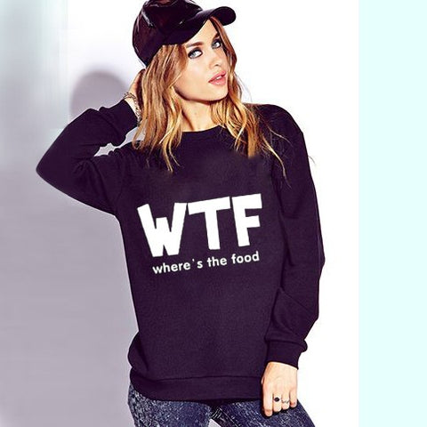 Where's the food pullover sweatshirt sweater - Iconic Trendz Boutique