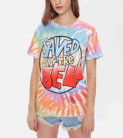 Saved by the bell tie dye retro tshirt - Iconic Trendz Boutique