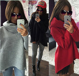 Oversize turtle neck fashion sweater - Iconic Trendz Boutique
