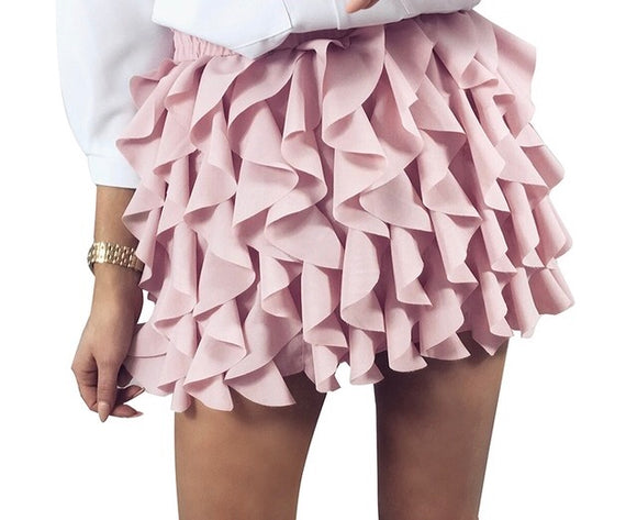 Salsa ruffle detail fashion mini skirt - Iconic Trendz Boutique