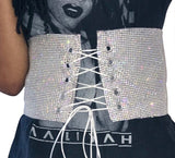Glitter lace up corset belt - Iconic Trendz Boutique