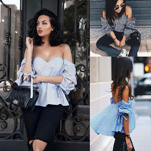 """Missy"" off the shoulder casual loose blouse - Iconic Trendz Boutique"