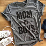 Ladies trendy funny moms text print loose fit tshirt - Iconic Trendz Boutique