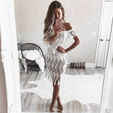"""Never late"" floral lace off the shoulder cocktail dress - Iconic Trendz Boutique"