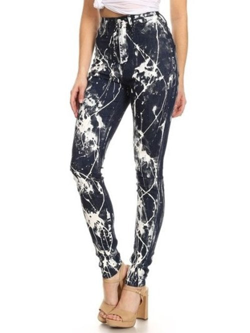 Expression high waist splash skinny jeans - Iconic Trendz Boutique