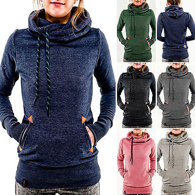 Comfy double turtle neck fashion hoodie sweater - Iconic Trendz Boutique