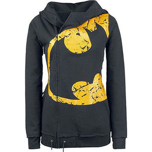 Batman logo side zip hoodie sweater