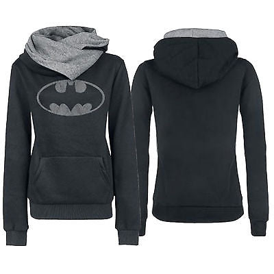 Batman double turtle neck hoodie pullover sweater