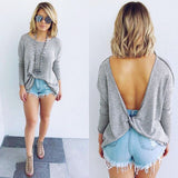 """Cozy"" low back fashion sweater top - Iconic Trendz Boutique"