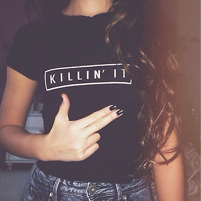 Killin it printed fashion Tshirt - Iconic Trendz Boutique