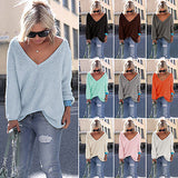 """Wishful"" V neck oversize pullover knitted sweater top - Iconic Trendz Boutique"
