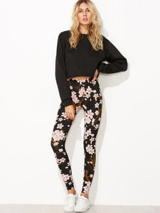 Floral fashion casual leggings - Iconic Trendz Boutique