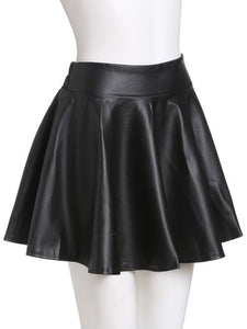 Faux leather skater pleated mini skirt - Iconic Trendz Boutique
