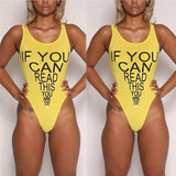 If you can read this your to close monokini one piece bikini swimwear - Iconic Trendz Boutique