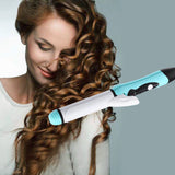 2 in 1 mini hair straightener and curling iron - Iconic Trendz Boutique