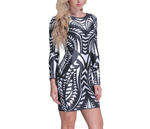 """Alpha"" geometric bodycon dress - Iconic Trendz Boutique"