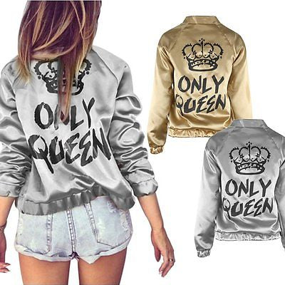 Only Queen fashion bomber jacket - Iconic Trendz Boutique