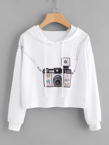 3D camera style fashion crop sweater - Iconic Trendz Boutique