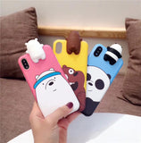 We bare bears inspired 3D iPhone phone case - Iconic Trendz Boutique