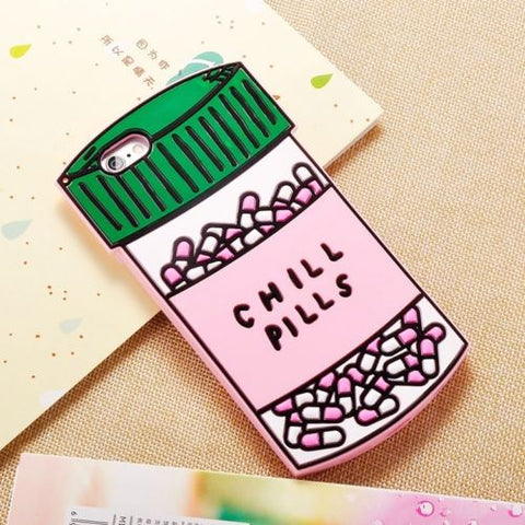 Chill pills 3d iPhone phone case - Iconic Trendz Boutique