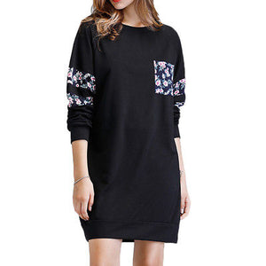 Floral oversize tshirt sweater dress - Iconic Trendz Boutique