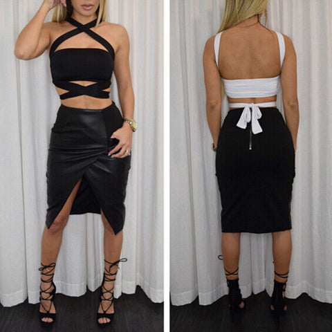 So wrapped crop top - Iconic Trendz Boutique