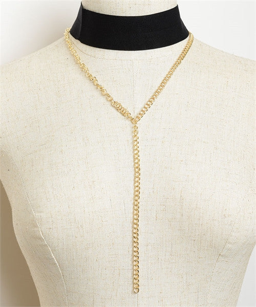 Chain Drop Choker Necklace - Iconic Trendz Boutique