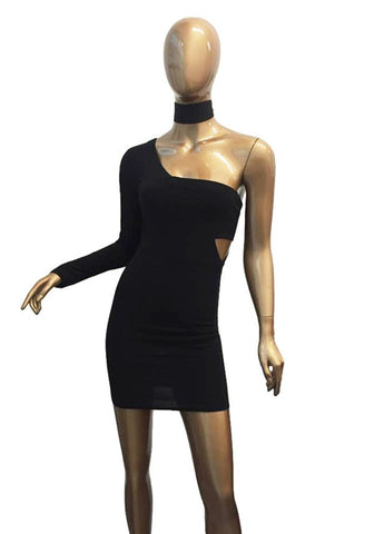 "Women ""demand"" choker mini dress - Iconic Trendz Boutique"