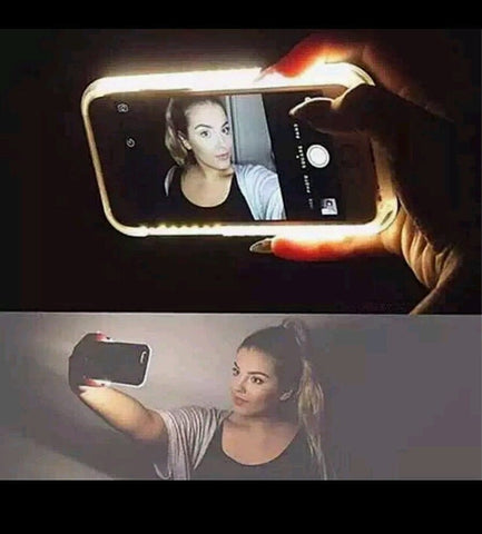 """Icons"" LED Light Selfie Luminous Phone Case (iphone) - Iconic Trendz Boutique"