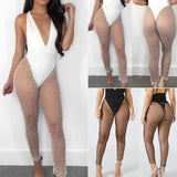 Ladies Sheer mesh bikini Cover Up Swimwear Pants
