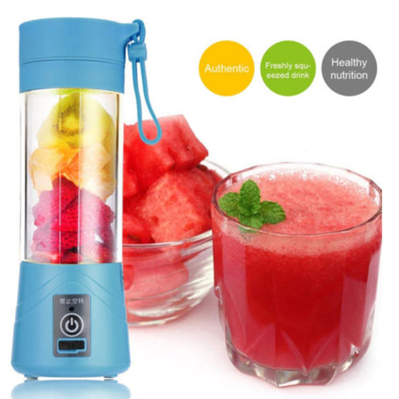 Mini Portable USB Rechargeable Smoothie Electric Fruit Juicer Machine - Iconic Trendz Boutique