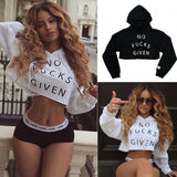 NO F*cks Given Crop top Hoodie - Iconic Trendz Boutique