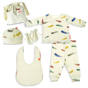 Colorful Feathers Baby Gift Set Boys Girls