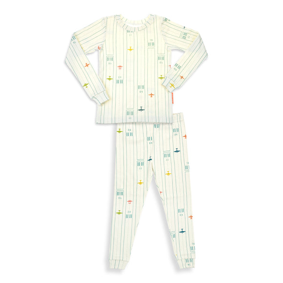 Take Off Boys 2 Pieces Soft Cozy Pajama Set / Made in Brooklyn NY / GOTS Certified Organic cotton